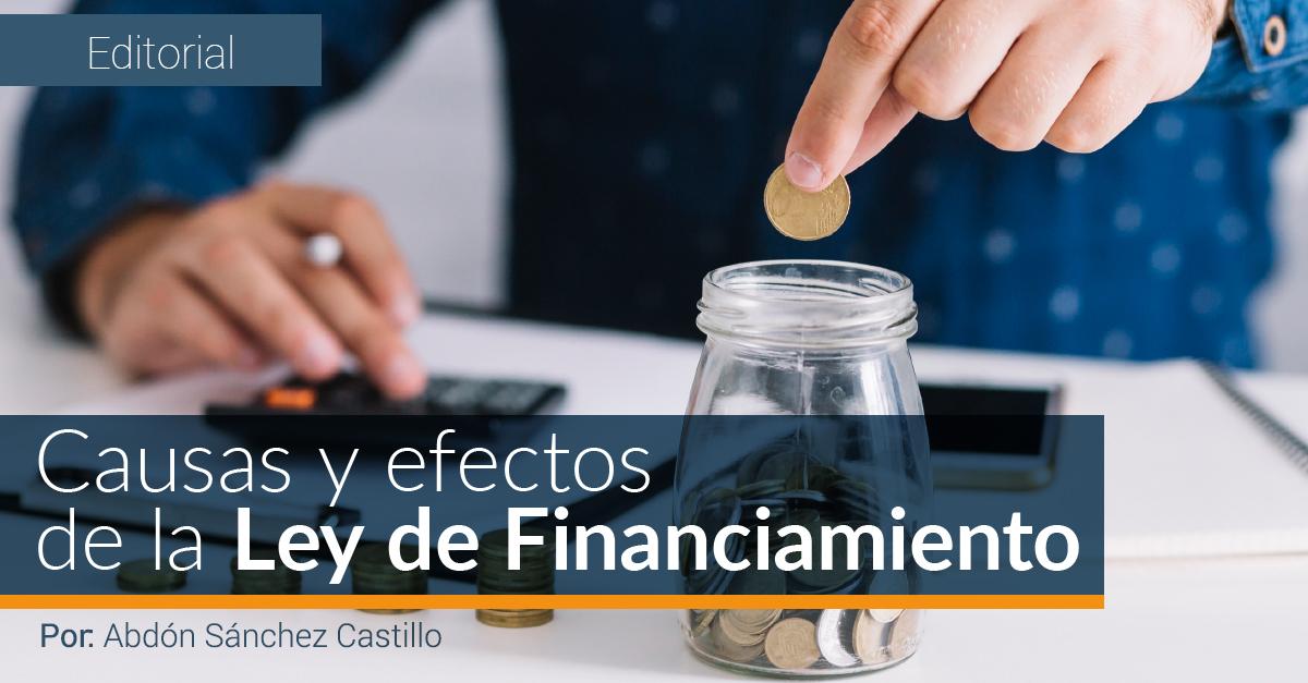 CAUSAS Y EFECTOS DE LA LEY DE FINANCIAMIENTO