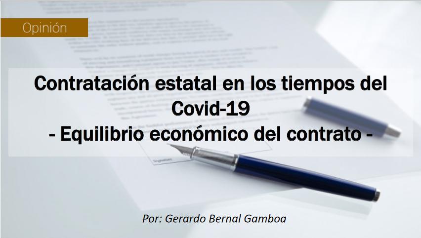 Contratación estatal en los tiempos del Covid-19